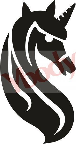 21105 Graceful Unicorn Stencil